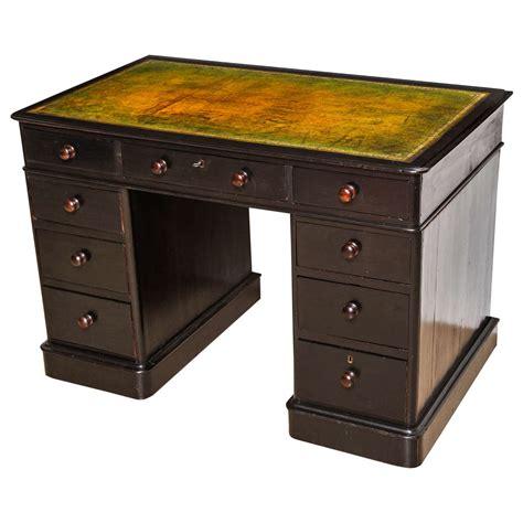 Esl Desk by Ebonized Oak Kneehole Pedestal Desk For Sale At