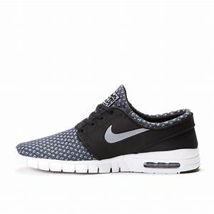 Nike SB Stefan Janoski Max (Black / Metallic Cool Grey ...