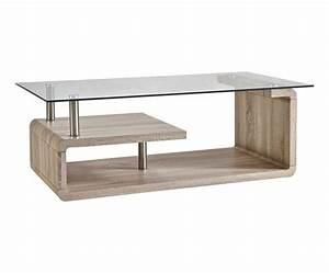 Table Basse Verre Bois : table basse bois et verre naturel et transparent l120 westwing home living meubles en ~ Teatrodelosmanantiales.com Idées de Décoration