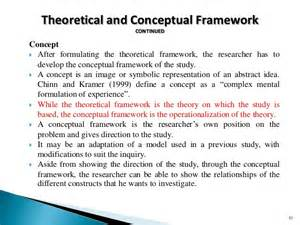 Theoretical and Conceptual Framework Examples