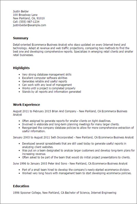 Business Resume by Ecommerce Resume Formats 3 Resume Format Business
