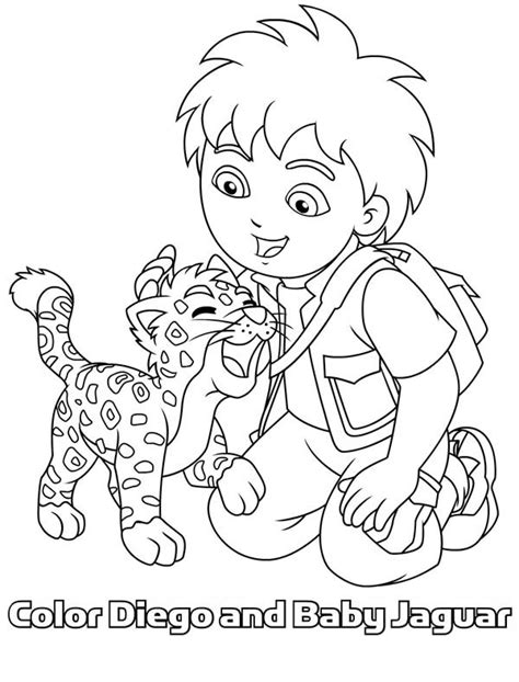 diego  cartoons printable coloring pages