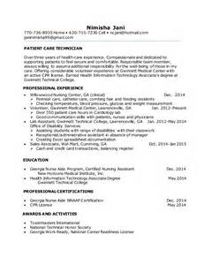 pct resume with no experience patient care technician cover letter no experience writersgroup721 web fc2