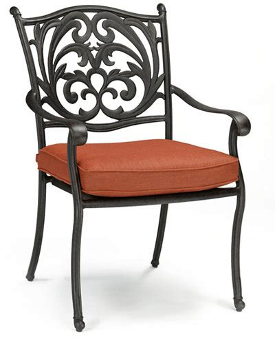 chateau cast aluminum outdoor dining chair furniture