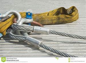 Industrial Cable With Shackle Stock Image