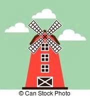 Clip Art Vector of Red Farm Barn - Cartoon illustration of ...