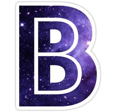 quot the letter b space quot stickers by mike gallard redbubble