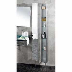 Miroir Meuble Salle De Bain : armoire de salle de bain inox tournante avec miroir cristina ondyna pk51506 vita habitat ~ Melissatoandfro.com Idées de Décoration