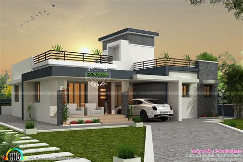 Home Design Box Type by Bhk Contemporary Box Type Home Kerala Design And Floor