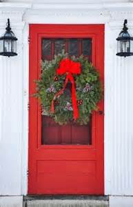 White with Red Front Door Screen