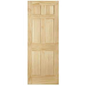 home depot interior slab doors steves sons 6 panel single hip unfinished solid pine interior door slab pin909031 the
