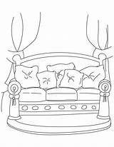 Sofa Couch Coloring Pages Template Templates sketch template