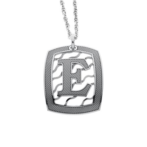 square initial pendant xmm personalized jewelry