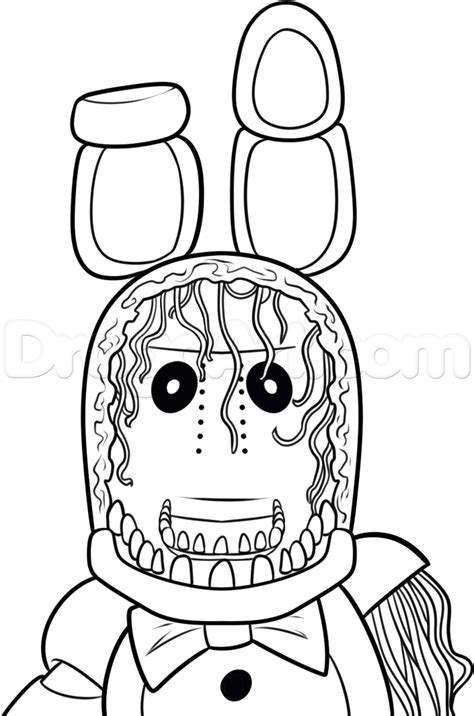 Bonnie Five Nights At Freddys Free Colouring Pages