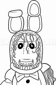 Bonnie Coloring Pages Withered Freddys Nights At Five