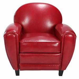 Fauteuil Cuir Rouge : fauteuil club rouge choisissez nos fauteuils club en ~ Teatrodelosmanantiales.com Idées de Décoration
