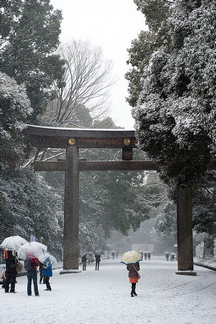 snow photography winter japan landscape trees religion