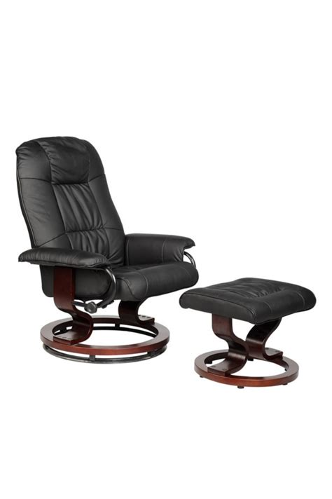 leather recline office chair relax sofa w ottoman o3 ebay
