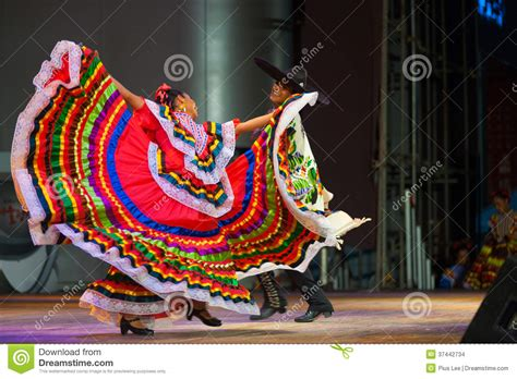 traditional mexican dancer red dress spreading editorial