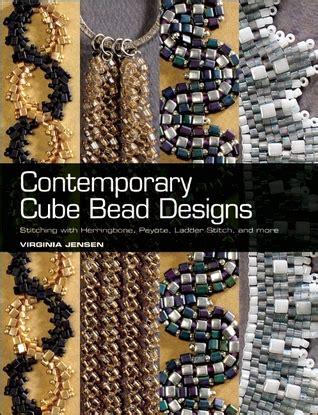 contemporary cube bead designs stitching  herringbone