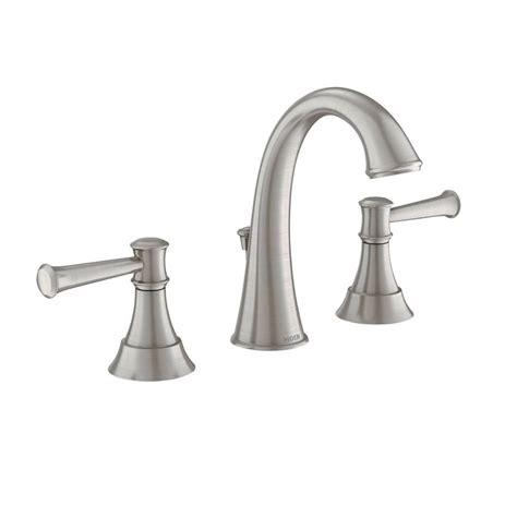moen ashville widespread faucet shop moen ashville spot resist brushed nickel microban 2
