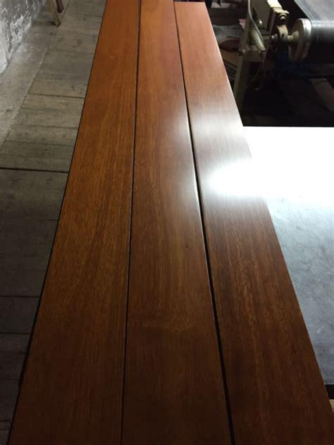 prefinished & unfinished 1.8m long plank kempas solid