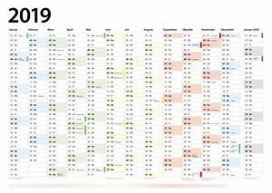 Jahreskalender 2018 2019 : jahreskalender 2019 din a1 plakat querformat dateck werbung ~ Jslefanu.com Haus und Dekorationen
