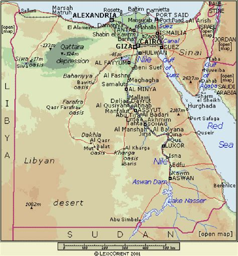 Ägypten Straßenkarte