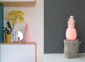 Objet Deco Ananas : la lampe pastel en forme d 39 ananas joli place ~ Teatrodelosmanantiales.com Idées de Décoration