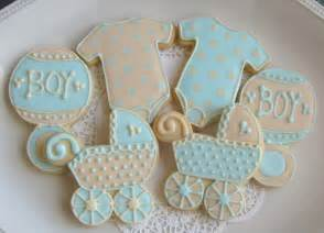 Decorated Shortbread Cookies by Reserved For Christineblue And Ivory Baby Shower Cookie