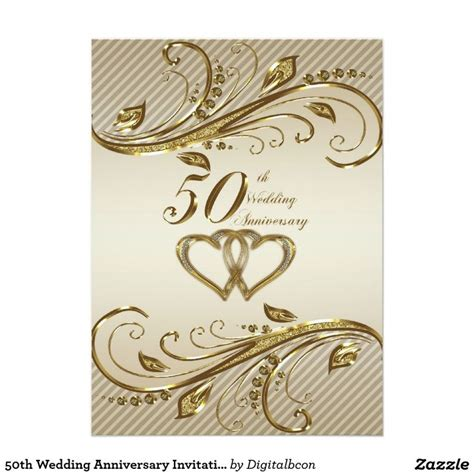 wedding anniversary invitation card zazzlecouk