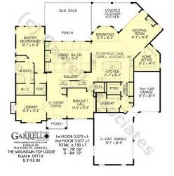 mountainside home plans mountain top lodge house plan house plans by garrell associates inc