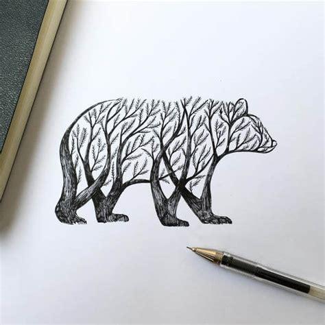 poetic illustrations depict magic scene  trees sprout