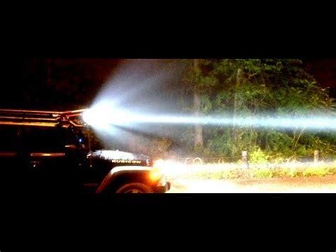jeep light bar at night 7 kc pro sport hid 8 quot lights on jeep jku youtube
