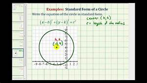 Ex  Write The Standard Form Of A Circle From A Graph