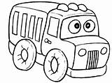 Coloring Truck Printable Toy sketch template