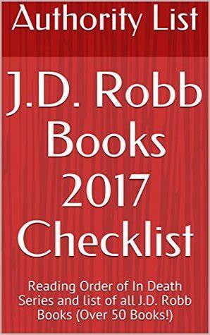jd robb books  checklist reading order   death