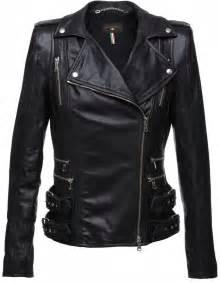 Zipper Black Leather Jacket