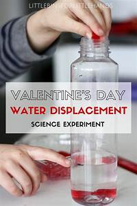 Valentines Water Displacement Science Experiment for Kids