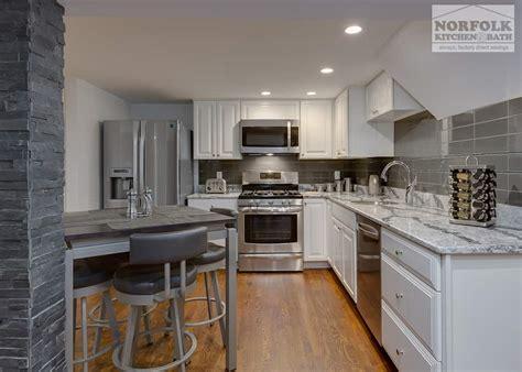classy modern kitchen  quartz norfolk kitchen bath