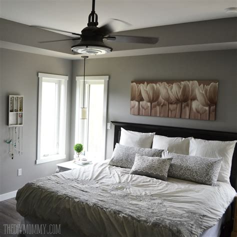 A Grey And Cream Master Bedroom Design With Diy Pillow