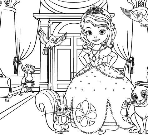 princesa sofia para colorir imprimir