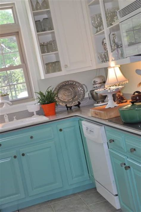 turquoise painted kitchen cabinets best 25 turquoise kitchen cabinets ideas on 6400