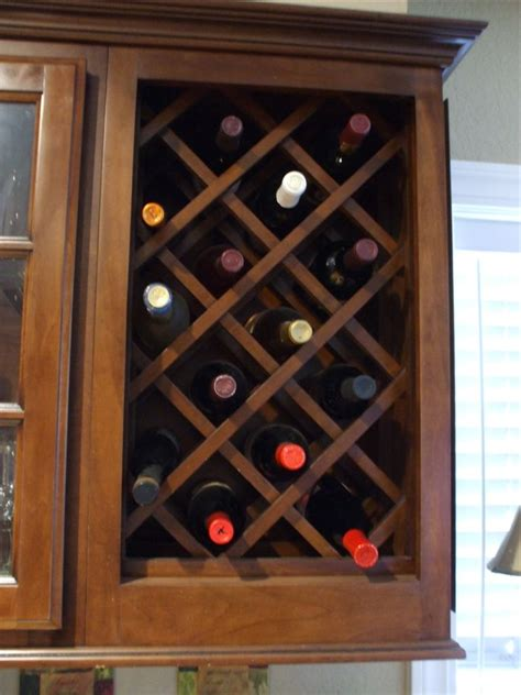 kitchen cabinet wine rack insert other cabinet options woodwork creations 7974