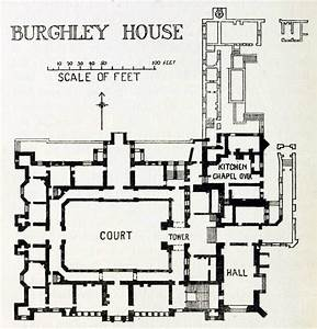 Plan of burghley house england floor plans castles for Floor plans of my house uk