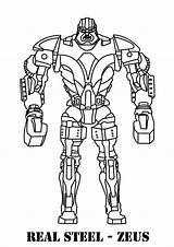 Coloring Pages Robots Boys Steel Zeus Robot sketch template