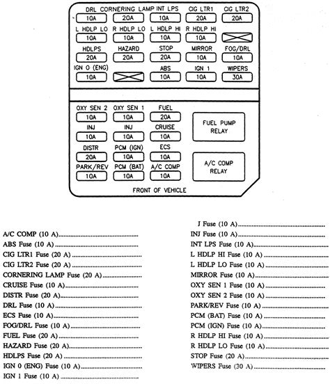 cadillac deville engine schematic   fuse box