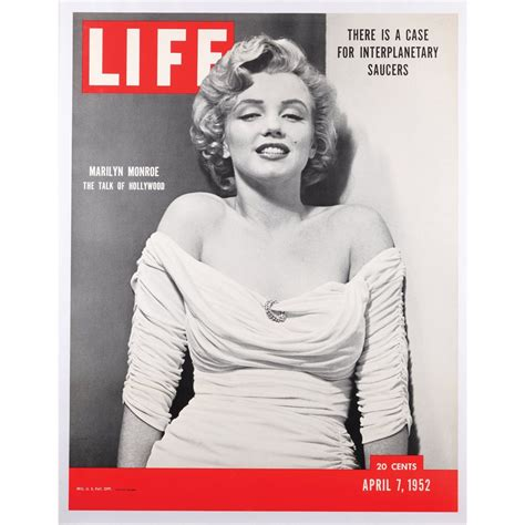 marilyn monroe first magazine cover poster of marilyn monroe s first life cover 1952