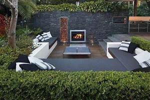 frisch moderne loungemobel moderner garten holz terasse With feuerstelle garten mit amsterdam hotel mit balkon