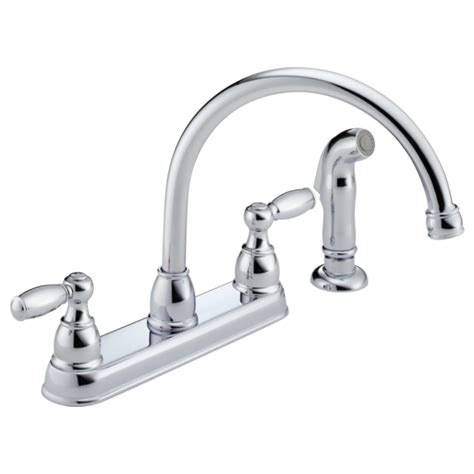 peerless faucet parts p99575lf two handle kitchen faucet with spray